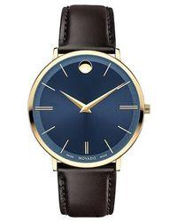 Movado Ultra Slim Watch - Marron