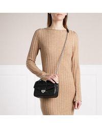 Michael Kors Soho Small Chain Shoulder Handbag Leather - Zwart