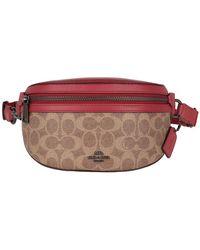 COACH Coated Canvas Signature Belt Bag Brown - Marron