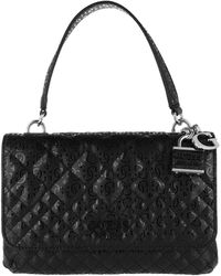 Guess Queenie Top Handle Flap Bag Black - Noir