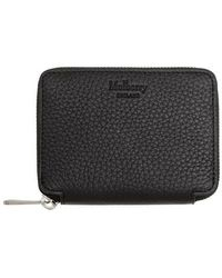 Mulberry Zip Around Wallet Leather - Noir