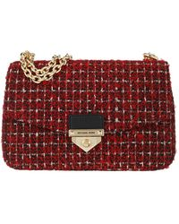 Michael Kors Soho Large Chain Crossbody Bag Bright Red - Rouge