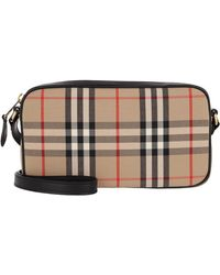 Burberry - Small Vintage Check Camera Bag - Lyst