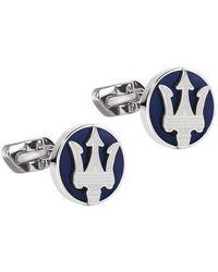Maserati Cufflinks Dumoritite Stone - Bleu