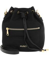 HUGO Megan Drawstring Bag Black - Noir
