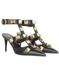Valentino Garavani Roman Stud Ankle Strap Sandals - Noir