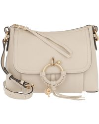 See By Chloé Hana Foldover Satchel Cement Beige - Natural
