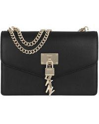 DKNY - Elissa Lg Shoulder Bag Black/gold - Lyst