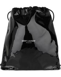 Saint Laurent Teddy Backpack Patent Leather Nero - Black
