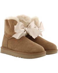 UGG W Gita Bow Mini Chestnut - Brown