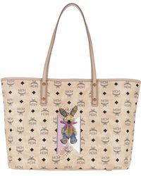 MCM - Rabbit Bag Medium Beige - Lyst