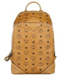 MCM - Duke Visetos New Backpack Small Cognac - Lyst