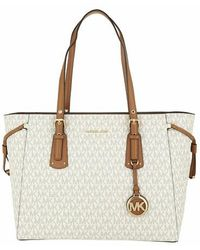 Michael Kors Medium Mf Tz Tote - White