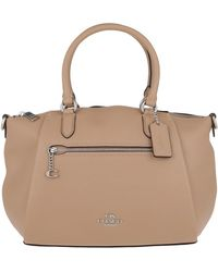 COACH Satchel Bag Taupe - Natural