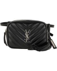 Saint Laurent Lou Belt Bag Matelassé Leather Black