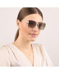 Tory Burch Woman Sunglasses Metal - Bruin