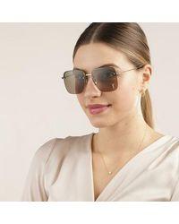 Saint Laurent Sl 312 M-003 58 Sunglasses Woman - Metallic