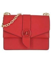Michael Kors Small Conv Xbody Handbag Leather - Rouge