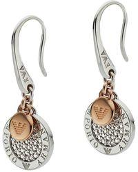 Emporio Armani Eg3377040 Earrings Roségold/silver - Metallic