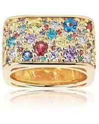 Sif Jakobs Jewellery Novara Quadrato Ring Multicoloured Zirconia - Métallisé