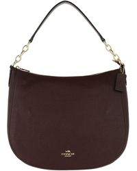 COACH - Polished Leather Chelsea Hobo Bag Oxblood - Lyst
