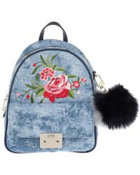 Guess - Varsity Pop Small Backpack Blue Denim - Lyst