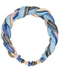 Becksöndergaard Haarband In Gevlochten Look, Model 'braidia' - Blauw