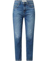 Marc O'Polo DENIM Relaxed Fit Mid Rise Jeans mit Stretch-Anteil Modell 'Freja' - Blau