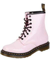 Dr. Martens Boots aus Lackleder - Pink