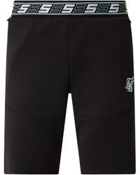 SIKSILK Shorts mit elastischem Logo-Bund - Schwarz