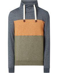 Tom Tailor Sweatshirt mit Tube Collar - Grün