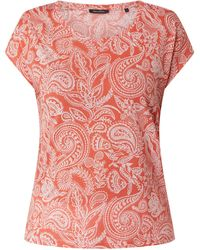 Marc O'polo T-Shirt mit Paisley-Muster - Rot