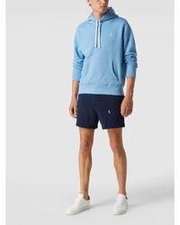Polo Ralph Lauren Sweatshorts Met All-over Geborduurd Logo - Blauw