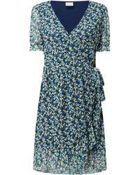 Vila Wickelkleid aus Mesh Modell 'Volette' - Blau