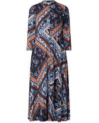 Tom Tailor Denim Blusenkleid mit Paisley-Muster - Blau