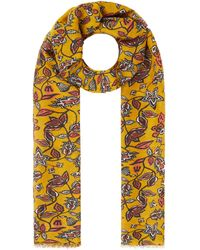 Esprit Schal mit floralem Muster - Gelb