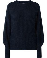 Gestuz Pullover mit überschnittenen Schultern Modell 'Alpia' - Blau