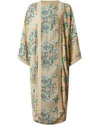 Esprit Kimono Met Bloemenmotief - Naturel