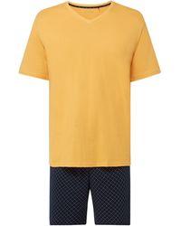Schiesser Pyjama aus Baumwolle - Gelb