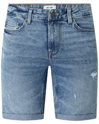 Only & Sons Jeansshorts mit Stretch-Anteil Modell 'Ply' - Blau