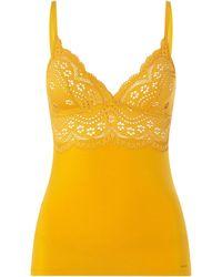 SKINY Unterhemd mit Stretch-Anteil - Gelb