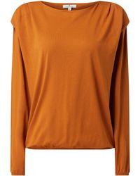 Tom Tailor Sweatshirt aus Baumwoll-Modal-Mix - Braun