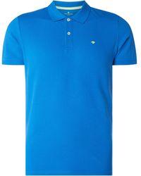 Tom Tailor Poloshirt aus Baumwolle mit Logo-Stickerei - Blau