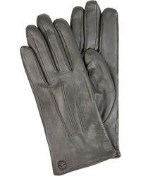 Roeckl Sports Perfect Fit Touchscreen-Handschuhe aus Leder - Grau