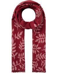 Esprit Schal aus Baumwoll-Viskose-Mix - Rot