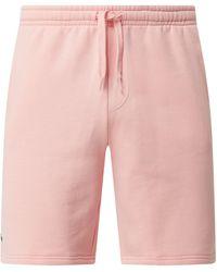Lacoste Sweatshorts mit Eingrifftaschen - Pink