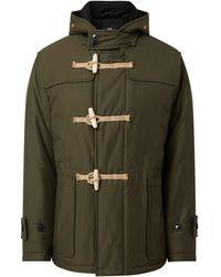 Gloverall Dufflecoat mit Wattierung Modell 'Tilbury Short Padded Duffle' - Grün