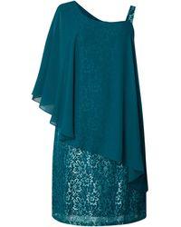 Sheego PLUS SIZE Kleid aus floraler Spitze - Grün