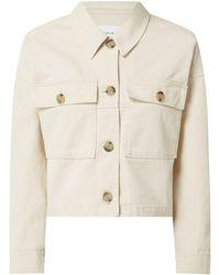 Opus Boxy Fit Jacke mit überschnittenen Schultern Modell 'Hardil' - Natur