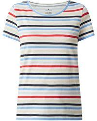 Tom Tailor T-Shirt aus Bio-Baumwolle - Blau